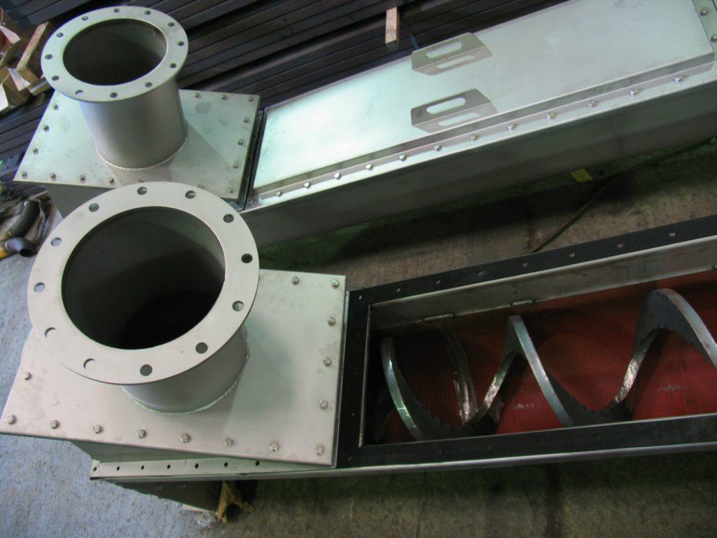 4 sectores depuración y reciclaje sinfín eje hueco