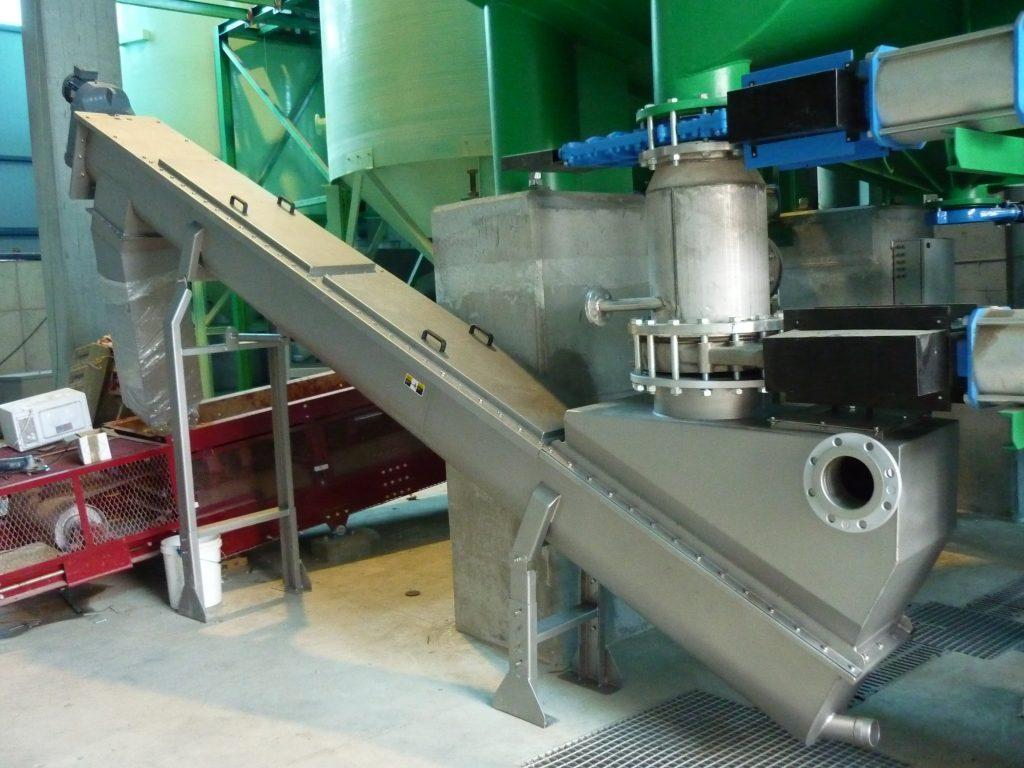 sinfín artesa biomasa