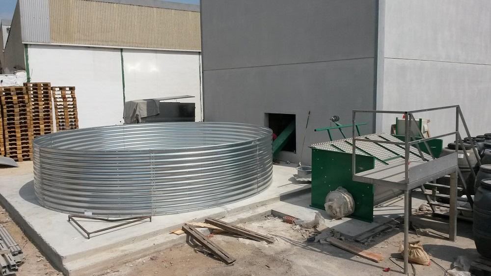 Montaje silo biomasa 1