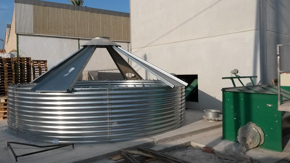 Montaje silo biomasa 2