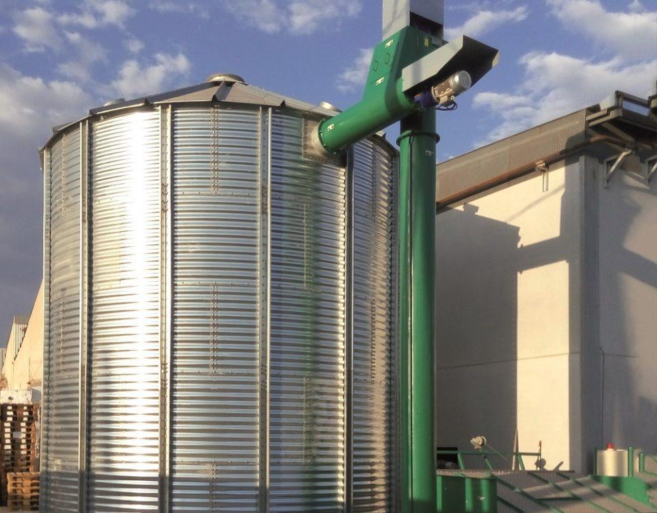 proyecto tolva+silo+ sistema de sinfines transporte biomasa