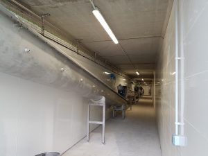 sinfín artesa proyecto transporte bricks 6